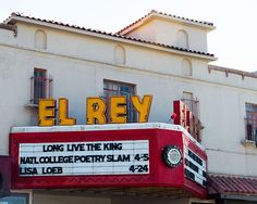 A fine art photo of the El Rey Theatre neon sign in Albuquerque, New Mexico.