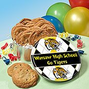 Custom Cookie Tins are perfect for bake sale fundraisers with a little school spirit!