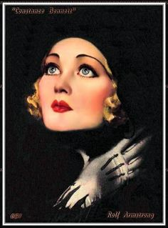 "Portrait of an outspoken actress of the era.  *** ""Constance Bennett.""  Rolf Armstrong.  circa 1931."