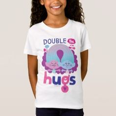 e602daee9 Trolls | Satin & Chenille - Double the Hugs T-Shirt Shirts With Sayings,