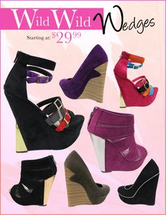 Wild Wedges for Fall! Starting at $29.99.