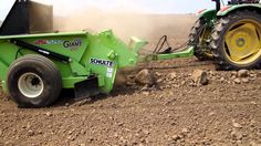 Rock Picker and Windrower - Schulte Picking Stones