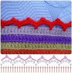 Crochet Stripy's Edging with Graphic