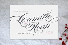 Classique Save the Date Postcards by Kristie Kern at minted.com
