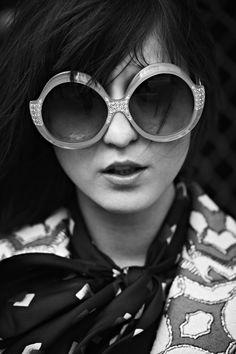 7983ce53f39151 Irina Lazareanu Wearing Ultra Sudan Sunglasses   Vintage Frames Company –  Vintage Sunglasses Cool Glasses,