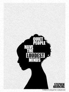 if this idea interests you, watch the ted talk with susan caine talking about the power of introverts