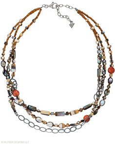 "An eclectic mix of Shell, Coral and Seed Beads freshly combine in this Sterling Silver Necklace. 16"" with a 2"" Extender."