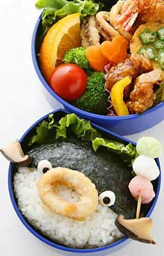 Fugu blowfish bento.