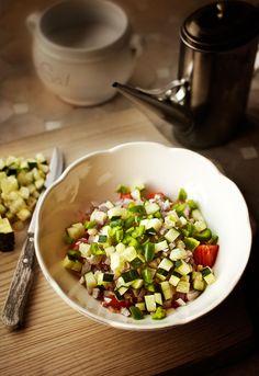 Salsa de hortalizas (pipirrana). Ensaladas