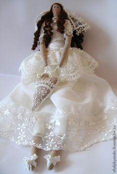 Куклы Тильды ручной работы. Ярмарка Мастеров - ручная работа Невеста. Кукла в стиле тильда. Handmade.