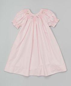 Fantaisie Kids Pink Floral Smocked Bishop Dress - Infant, Toddler & Girls | zulily