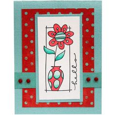 Red Hello Daisy #Card