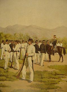 J. Hoynck van Papendrecht - Schutterij in Oost-Indië (dagelijksche tenue) 1897