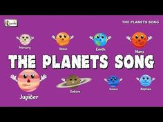 The Planets Song Solar System Song, Space Solar System, Solar System Planets, Kids Music Videos, Music For Kids, Science For Kids, Science Fun, Social Science, Planet Song