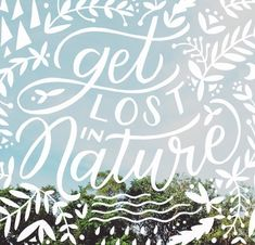 """lettering over photography / clever putting """"IN"""" between the letters of """"Nature""""."""