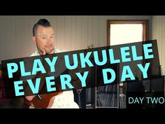 Play Ukulele Every Day carries on with some new ukulele warm ups, chords, techniques, strumming and play-alongs. Ukulele Chords, Pick One, Feel Good, Music Videos, Play, Feelings, Learning, Youtube, Books