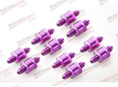(78.01$)  Buy here - http://airk0.worlditems.win/all/product.php?id=1995739559 - 10pcs 3AN Fuel Non Return One Way Check Valve Petrol Diesel Aluminium Alloy OWV-05-PURPLE-10