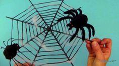 Bastelideen Halloween - Spinnennetz basteln