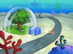 Spongebob Painting, Spongebob Drawings, Disney Drawings, Cute Drawings, Cloud Wallpaper, Macbook Wallpaper, Wallpaper Backgrounds, Spongebob Background, Cartoon Background