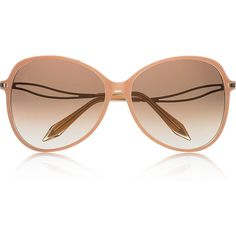 Victoria Beckham Butterfly D-frame acetate sunglasses ($575) ❤ liked on Polyvore