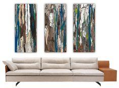 Diptych Artwork Canvas Print Very Large Wall Art Set Tree Art Modern - Wall art sets for living room