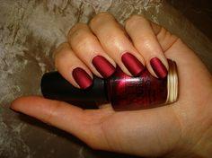 Opi Matte Silk Red- Gorgeous!