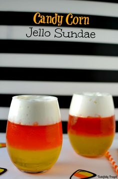 Candy Corn Jello Sun
