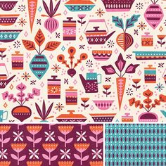 Having fun creating patterns for a class I'm taking. #patterndesign #pattern #fabric #design #illustration