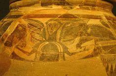 Cerámica ibérica de la Alcudia, con representación de la diosa domadora de caballos. Museo de la Alcudia.