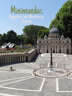 Minimundus is a park with miniature buildings and objects from all over the world. Klagenfurt, World Famous Buildings, Prague City, American Space, Neuschwanstein Castle, Parthenon, Salzburg, Places To Travel, Sagrada Familia