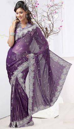 10875b27d0060 Amethyst Purple Lehenga Style Saree Lehenga Style Saree