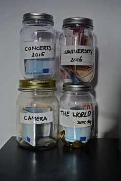 Interactive Bucket List!!!! Put evidence (tickets, keepsakes, etc) from the item in the jar as a keepsake of your List!