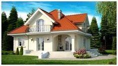 Resultado de imagen para modelos de casas de dos pisos economicas House Roof Design, Red Roof House, House Front, Bungalow Haus Design, Bungalow House Plans, Modern House Plans, House Paint Exterior, Dream House Exterior, Dream Home Design
