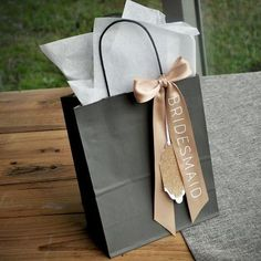 Wedding Party Gift Bags (Qty. 1). Gift Bags with Tags. Bridesmaid Gift Bags.