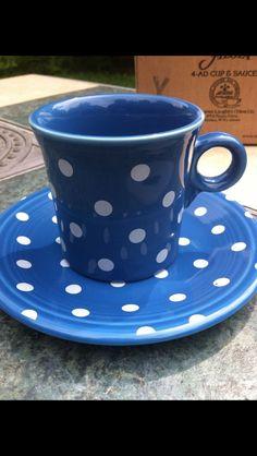 More Fiesta® dinnerware Lapis polka dots!!