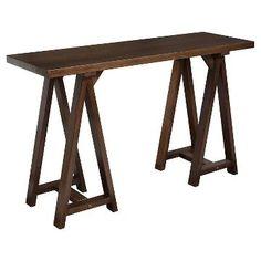 Sawhorse Sofa Console Table - Medium Saddle Brown - Simpli Home