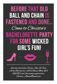 Invitation bachelorette party halloween bachelorette party wicked girls fun printable invitation template customize add text and photos print stopboris Image collections
