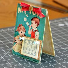 Stuff-n-Such By Lisa: Craft Lightning - Recycled Book to Easel Calendar