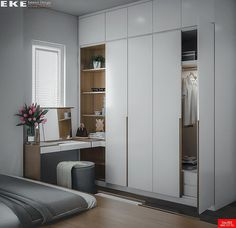 45 Creative Bedroom Wardrobe Design Ideas That Inspire On Like everything else in life, there are those who were born to plan out bedrooms and those who would rather … Bedroom Cupboard Designs, Wardrobe Design Bedroom, Bedroom Cupboards, Bedroom Furniture Design, Closet Bedroom, Home Decor Bedroom, Closet Office, Small Bedroom With Wardrobe, Wardrobes For Small Bedrooms