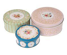 3 Boîtes à gâteaux I, métal - multicolore