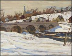 """Packenham, Ontario,"" Alexander Young (A.) Jackson, oil on board, 10 x 13 private collection. Emily Carr, Canadian Painters, Canadian Artists, Winter Painting, Winter Art, Group Of Seven Paintings, Tom Thomson Paintings, Jackson, Canada Images"