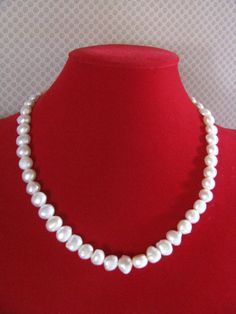 Freshwater Pearl Necklace by ROOTSJewelryDesign on Etsy, $100.00