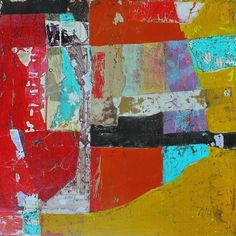 Abstract Mixed Media Collage Memory 5