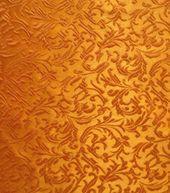 Brocade Fabric-Brocade Tonal Floral Scroll Orange