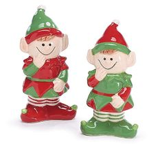 Pixie Elf Holiday Christmas Salt and Pepper Shaker Set ** See this awesome image  : Dining Entertaining