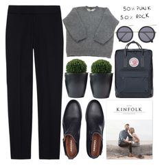 """""""punk rock"""" by evangeline-lily ❤ liked on Polyvore featuring Ralph Lauren Black Label, Louis Vuitton, Fjällräven and Le Specs"""