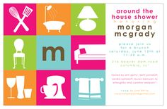 around the house bridal shower invitations | Around the House Bridal Shower Invitations, 29898