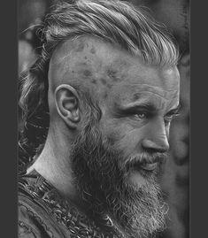 Artist Fabio Rangel Travis Fimmel as Ragnar Lothbrok Ragnar Lothbrok Vikings, Vikings Tv, Lagertha, Ragner Lothbrok, Portrait Au Crayon, Pencil Portrait, Realistic Pencil Drawings, Art Drawings, Animal Drawings