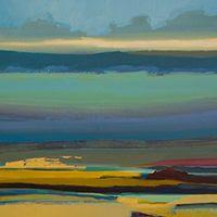 """Zoe Pawlak """"Blue Holding"""" painting"""