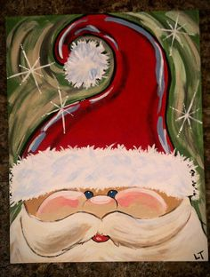 Hey, I found this really awesome Etsy listing at https://www.etsy.com/listing/193107299/santa-canvas-painting